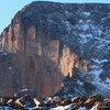 North Face, Long's, January 2013.