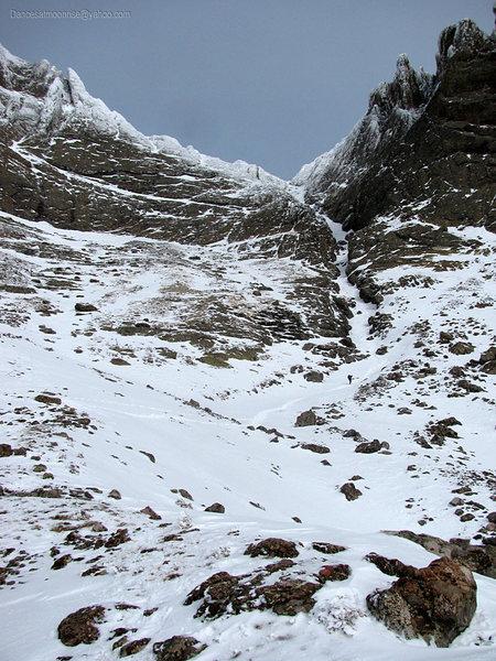 Rock Climbing Photo: South Couloir, Kit Carson, winter 2013.