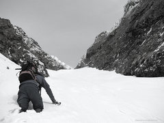 Rock Climbing Photo: South Couloir, winter.