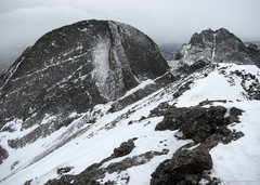Rock Climbing Photo: Kit Carson, seen from Challenger Point, February 3...