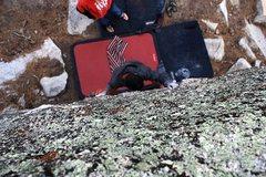 Rock Climbing Photo: The Chief (V4), Black Mountain