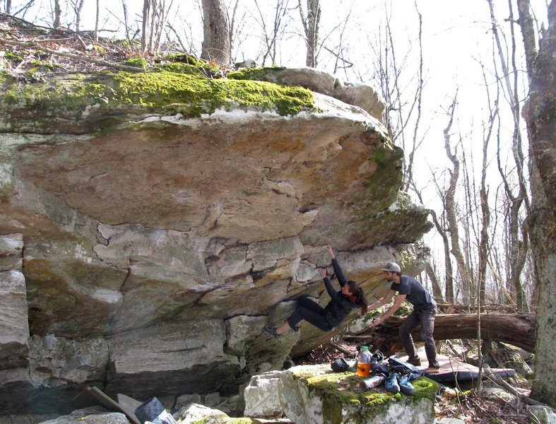 Rock Climbing Photo: Sarene Cullen on Green Thumb