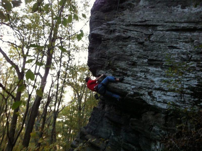 Rock Climbing Photo: Boulder Problem start on the arete