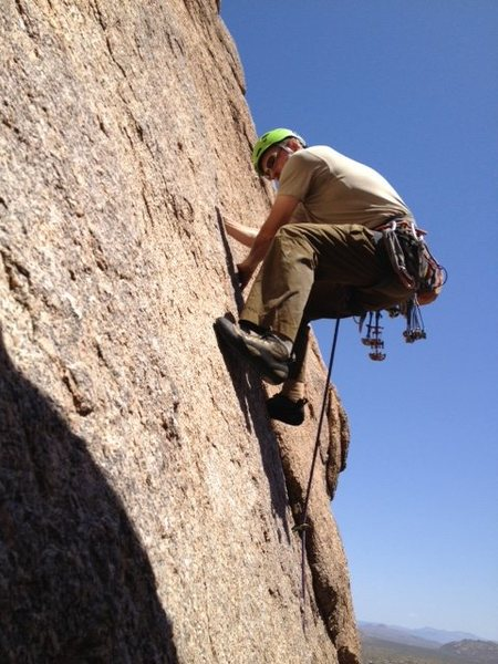 Finishing the crux section