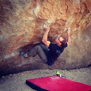 Rock Climbing Photo: Center Direct, V10. Bishop, Ca.