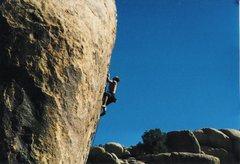 Rock Climbing Photo: Leading Cosmic Trigger