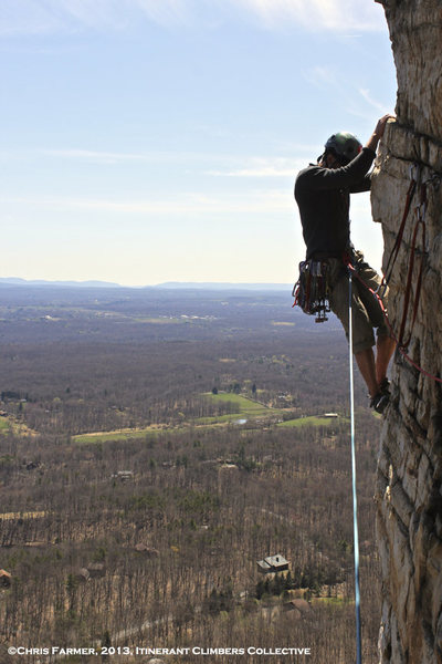 Me on Bonnie's Roof in the Gunks.