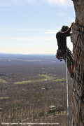 Rock Climbing Photo: Me on Bonnie's Roof in the Gunks.