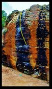 Rock Climbing Photo: Megapuppy problem beta.