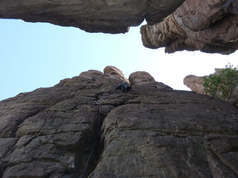 Rock Climbing Photo: Marcy on the FA