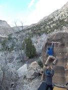 Rock Climbing Photo: Said sticks the crux move of Gatorade.