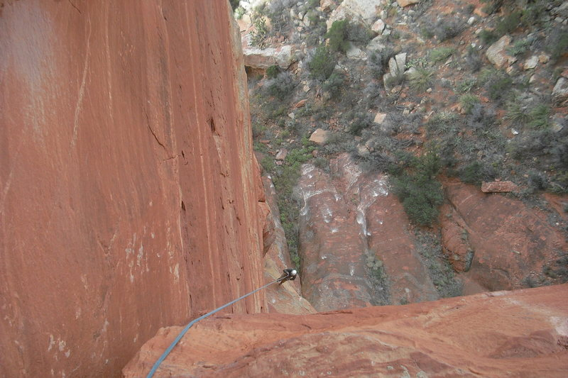 Rock Climbing Photo: J.Snyder jugging an early attempt. Dec.2012