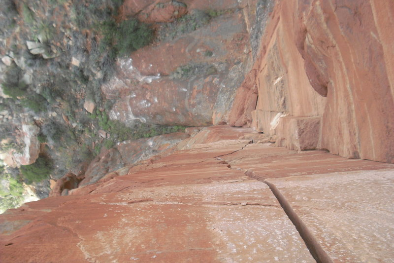 Top of Pitch 2, looking down the pillar splitter