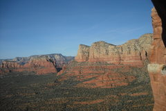 """Rock Climbing Photo: View looking North from under """"The Roof""""..."""