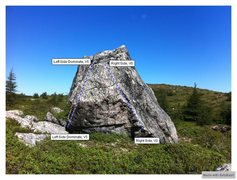 Rock Climbing Photo: Barrens Right Topo