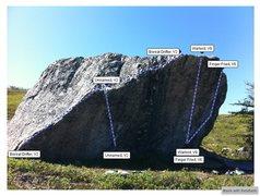 Rock Climbing Photo: Barrens Front Topo