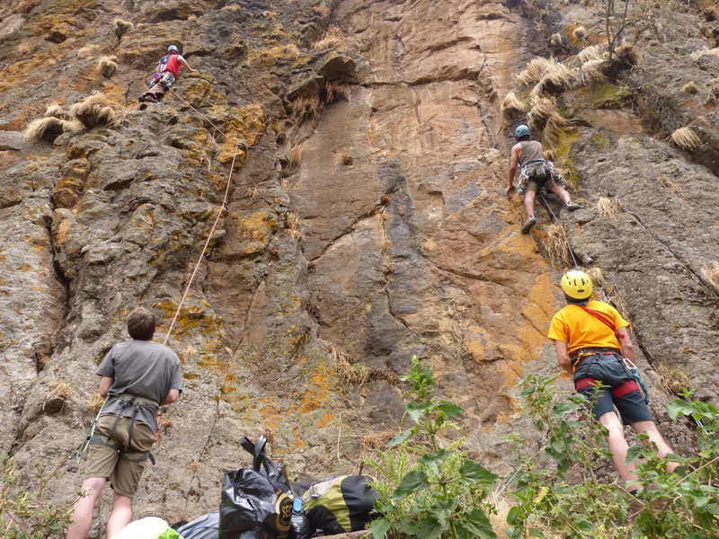 Rock Climbing Photo: Left climber on Oyster Nuts, the dude on the right...