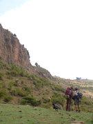 Rock Climbing Photo: Sizin' up the wall.