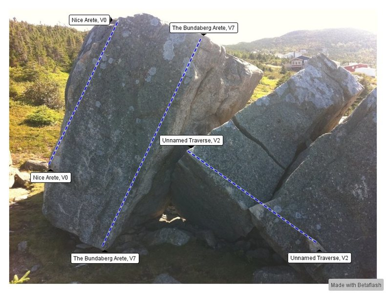 Trailer Boulders Left Topo