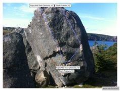 Rock Climbing Photo: Trailer Boulders Right Topo