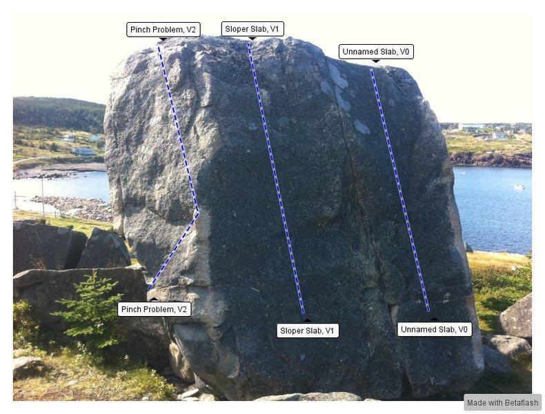 Rock Climbing Photo: Trailer Boulders Back Topo