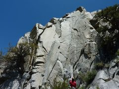 Rock Climbing Photo: Curt topping out on The Shyster 5.7
