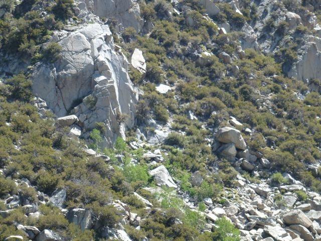 Rock Climbing Photo: A view of Bridge Crag taken from the Tyee Lakes Tr...