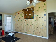 Rock Climbing Photo: We built a wall in our house because practice make...