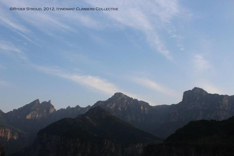 Rock Climbing Photo: View from the summit of Youyifeng.