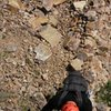 """Dylan Barnard coming up P1 during the first ascent of """"Weibo Paprazzi"""" on Youyifeng in China's Wanxian Mountains."""