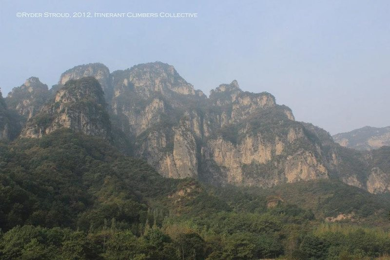 Rock Climbing Photo: Some of the unclimbed faces that can be seen from ...