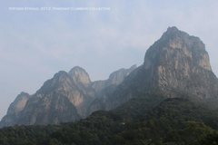Rock Climbing Photo: Some of the technical peaks that loom over the vil...