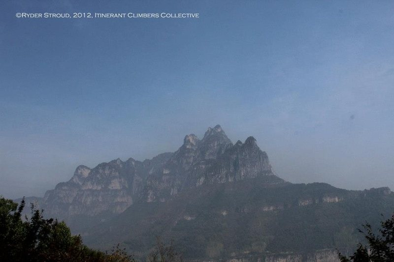 More of the technical-looking peaks in the Wanxian Mountain region.
