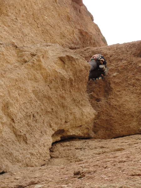 Rock Climbing Photo: Belaying in the little cave can be lame because th...