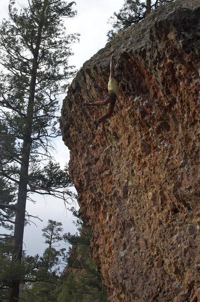 Rock Climbing Photo: last move