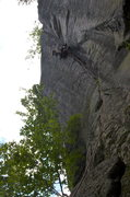 Rock Climbing Photo: Looks like a fisheye. Not a fisheye. Slab to overh...