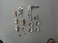 Rock Climbing Photo: The hardware seen here at the left side of the pho...