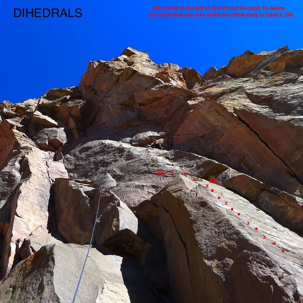 Topo to a new route at the Dihedrals Wall.