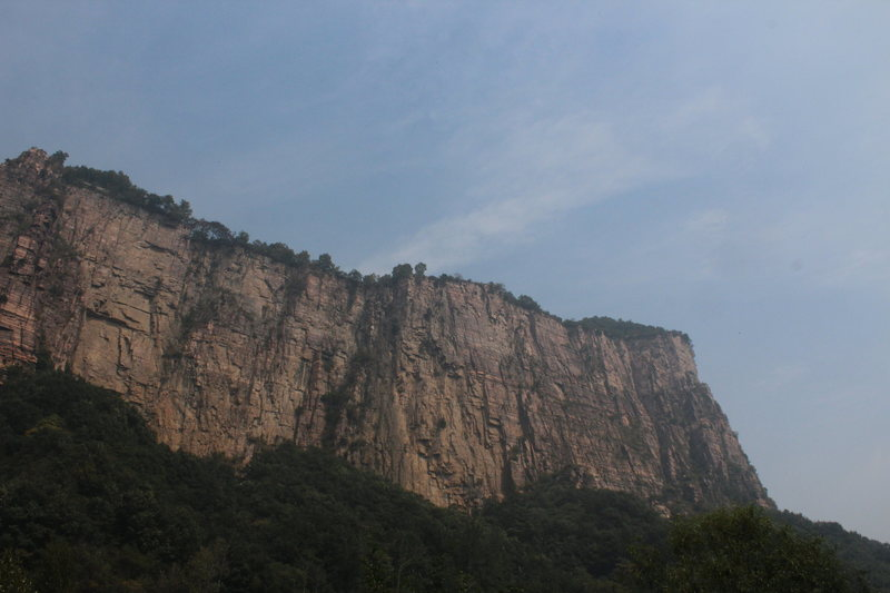A shot of H-section (General's Peak) crag as seen from Nanping village. The big, square buttress starts at the left side of the photo and extends further to the left, out fo view.