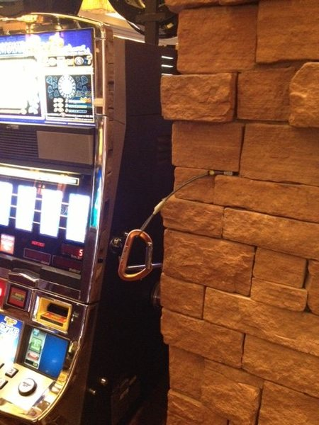 Hanging out by the slots