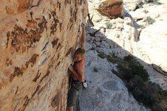Rock Climbing Photo: Final crux sequence