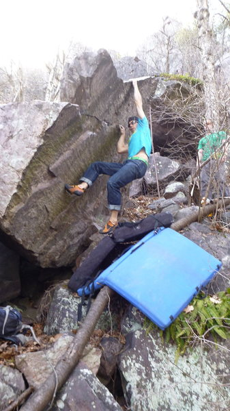 Rock Climbing Photo: Running a lap. Photos: Mike L.