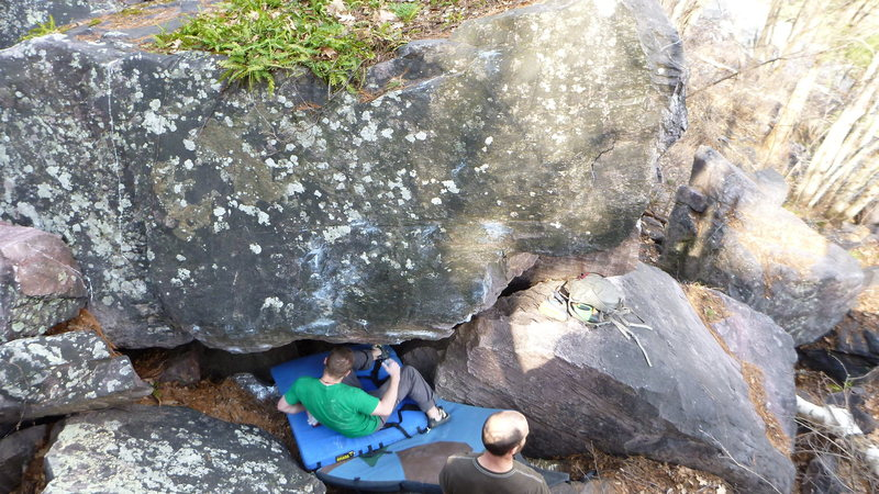 Rock Climbing Photo: Mike's Boulder.  What did you call this line Mike?
