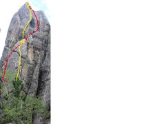 Rock Climbing Photo: Yellow is all tuckered out/tuck and roll. red is t...