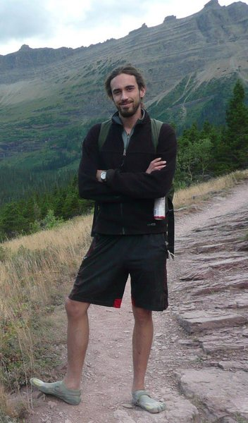 Rock Climbing Photo: Picture of me near Grinnell Glacier