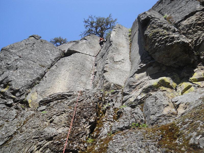 Rock Climbing Photo: Razor Crack, 5.9