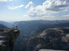 "Rock Climbing Photo: Adam standing on the ""Diving Board"" at t..."