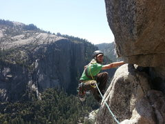 Rock Climbing Photo: The requisite shot of the final traverse.  Looks m...