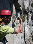 Rock Climbing Photo: Somehow I cut myself on the traverse at the end of...