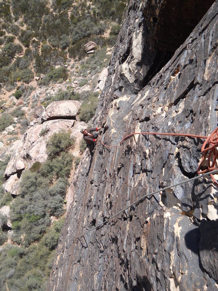 Rock Climbing Photo: Chip Wilson on pitch one.